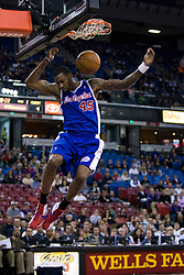 February 28, 2010; Sacramento, CA, USA;  Los Angeles Clippers guard Rasual Butler (45) dunks against the Sacramento Kings during the first quarter at the ARCO Arena. Sacramento defeated Los Angeles 97-92.