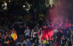 Fans of NK Maribor during football match between NK Maribor and Panathinaikos Athens F.C. (GRE) in 1st Round of Group Stage of UEFA Europa league 2013, on September 20, 2012 in Stadium Ljudski vrt, Maribor, Slovenia. (Photo By Matic Klansek Velej / Sportida)