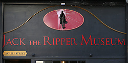 © Licensed to London News Pictures. 04/10/2015. London, UK. A planned protest at the Jack the Ripper Museum has been cancelled after organisers feared a large amount of arrests. Photo credit: Peter Macdiarmid/LNP