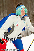 Fans dress up to cheer on teammates at MN State HS Nordic Ski Races.