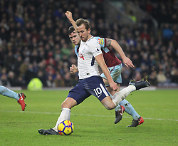 Harry Kane of Tottenham Hotspur scores his sides third goal - Mandatory by-line: Jack Phillips/JMP - 23/12/2017 - FOOTBALL - Turf Moor - Burnley, England - Burnley v Tottenham Hotspur - English Premier League