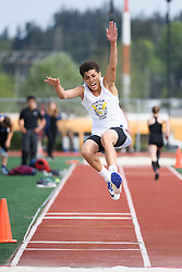 Men's long jump and triple jump from the 2016 Eason Invitational track and field meet at Snohomish High School.