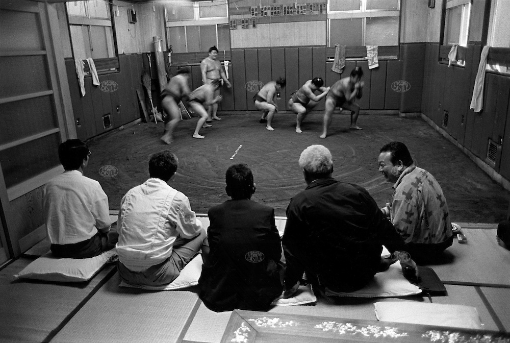 JAPAN --- Sumo wrestling in Japan.. --- Photo by Tom Wagner/Corbis SABA