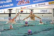© Filippo Alfero<br /> Italia-Croazia, Pallanuoto, World League 2015<br /> Torino, 20/01/2015<br /> sport pallanuoto<br /> Nella foto: