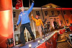 26.02.2015, Medal Plaza, Falun, SWE, FIS Weltmeisterschaften Ski Nordisch, Nordische Kombination, Medaillen Zeremonie, im Bild Goldmeadillen Gewinner Bernhard Gruber (AUT) // Gold Medalist Bernhard Gruber of Austria during the Nordic Combined Medal Ceremony of the FIS Nordic Ski World Championships 2015 at the Medal Plaza, Falun, Sweden on 2015/02/26. EXPA Pictures © 2015, PhotoCredit: EXPA/ SM