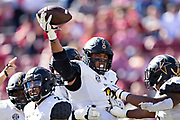 FAYETTEVILLE, AR - OCTOBER 27:  Louis Vecchio #29 of the Vanderbilt Commodores celebrates after recovering a fumble during a game against the Arkansas Razorbacks at Razorback Stadium on October 27, 2018 in Fayetteville, Arkansas. The Commodores defeated the Razorbacks 45-31.  (Photo by Wesley Hitt/Getty Images) *** Local Caption *** Louis Vecchio