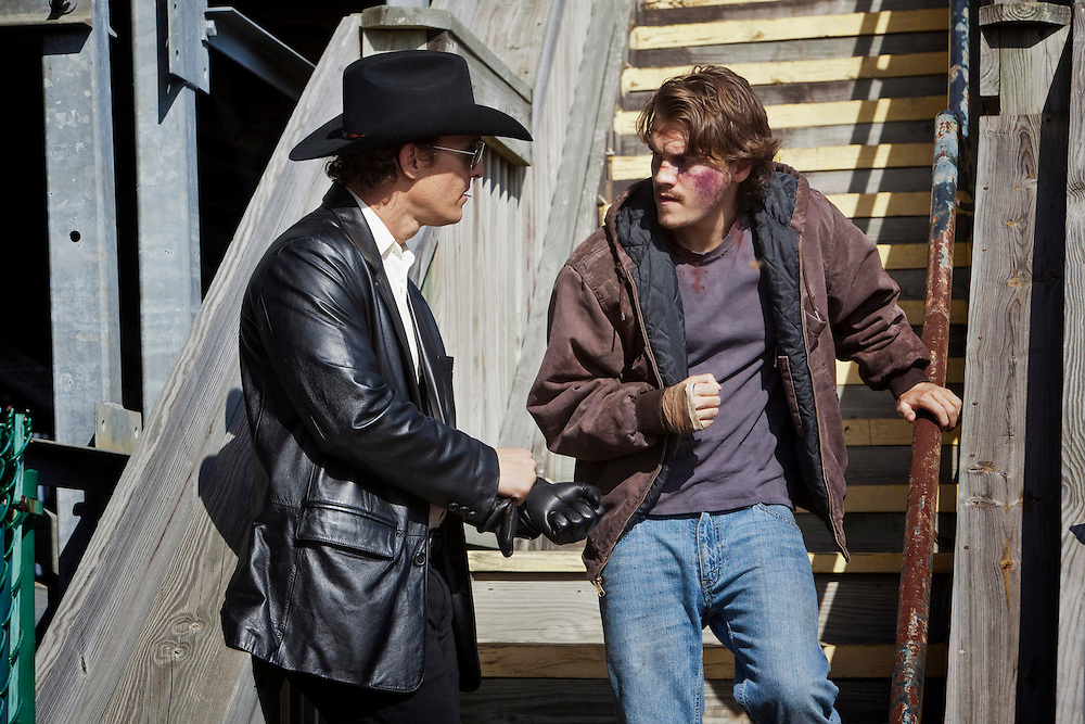 "Matthew McConaughey and Emile Hirsch in ""Killer Joe"" directed by William Friedkin."