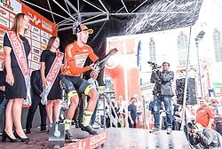08.07.2019, Wiener Neustadt, AUT, Ö-Tour, Österreich Radrundfahrt, 2. Etappe, von Zwettl nach Wiener Neustadt (176,9 km), im Bild Gesamtführender Jannik Steimle (Team Vorarlberg Santic, GER) // during 2nd stage from Zwettl to Wiener Neustadt (176,9 km) of the 2019 Tour of Austria. Wiener Neustadt, Austria on 2019/07/08. EXPA Pictures © 2019, PhotoCredit: EXPA/ JFK