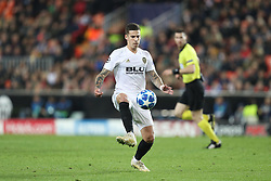 December 12, 2018 - Valencia, Spain - December 12, 2018 - Valencia, Spain - .Santi Mina of Valencia during the UEFA Champions League, Group H football match between Valencia CF and Manchester United on December 12, 2018 at Mestalla stadium in Valencia, Spain (Credit Image: © Manuel Blondeau via ZUMA Wire)