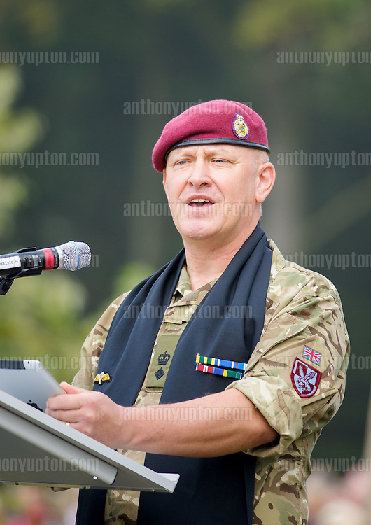 20140920       Copyright image 2014&copy;<br />  ,Daily Telegraph,  Daily Telegraph,<br /> Rev. Lt Col Jerry Sutton, Pardre 4 Para<br /> <br /> Airborne Commemoration at Ginkle Heide, Ede, as part of the 70th Anniversary celebrations of the Battle of Arnhem, Operation Market Garden d 69yy0-  with 500 Paratroopers, with 60,000 visitors at <br /> For photographic enquiries please call Anthony Upton 07973 830 517 or email info@anthonyupton.com <br /> This image is copyright Anthony Upton 2014&copy;.<br /> This image has been supplied by Anthony Upton and must be credited Anthony Upton. The author is asserting his full Moral rights in relation to the publication of this image. All rights reserved. Rights for onward transmission of any image or file is not granted or implied. Changing or deleting Copyright information is illegal as specified in the Copyright, Design and Patents Act 1988. If you are in any way unsure of your right to publish this image please contact Anthony Upton on +44(0)7973 830 517 or email: