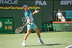 March 16, 2019 - Indian Wells, CA, U.S. - INDIAN WELLS, CA - MARCH 16: Dominic Thiem (AUT) hits a forehand during the BNP Paribas Open on March 16, 2019 at Indian Wells Tennis Garden in Indian Wells, CA. (Photo by George Walker/Icon Sportswire) (Credit Image: © George Walker/Icon SMI via ZUMA Press)