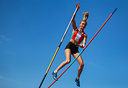 Felicia MILORO competes in the Women's Pole Vault during the Muller British Athletics Championships at Alexander Stadium, Birmingham, United Kingdom on 25 August 2019.