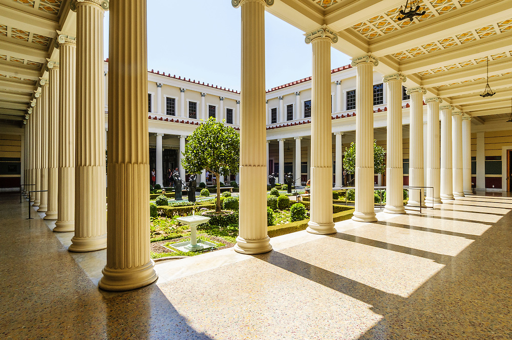 Getty Villa in Pacific Palisades, California,  is one of two locations of the J. Paul Getty Museum