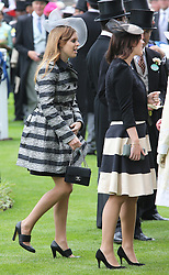 Princess Beatrice and Eugenie at the opening day of Royal Ascot 2013, Tuesday, 18th June 2013<br /> Picture by Stephen Lock / i-Images