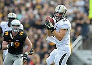 November 10 2012: Purdue Boilermakers tight end Justin Sinz (84) pulls in a pass during the NCAA football game between the Purdue Boilermakers and the Iowa Hawkeyes at Kinnick Stadium in Iowa City, Iowa on Saturday, November 10, 2012. Purdue defeated Iowa 27-24.