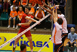 01-09-2012 VOLLEYBAL: WORLD LEAGUE 2013 QUALIFICATION NETHERLANDS - PORTUGAL : ROTTERDAM<br /> Lopes Andre of Portugal