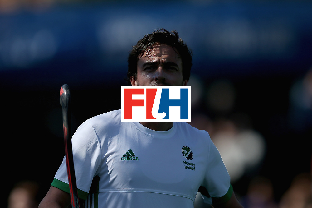 JOHANNESBURG, SOUTH AFRICA - JULY 13: Chris Cargo of Ireland looks on during day 3 of the FIH Hockey World League Semi Finals Pool B match between Ireland and Egypt at Wits University on July 13, 2017 in Johannesburg, South Africa. (Photo by Jan Kruger/Getty Images for FIH)