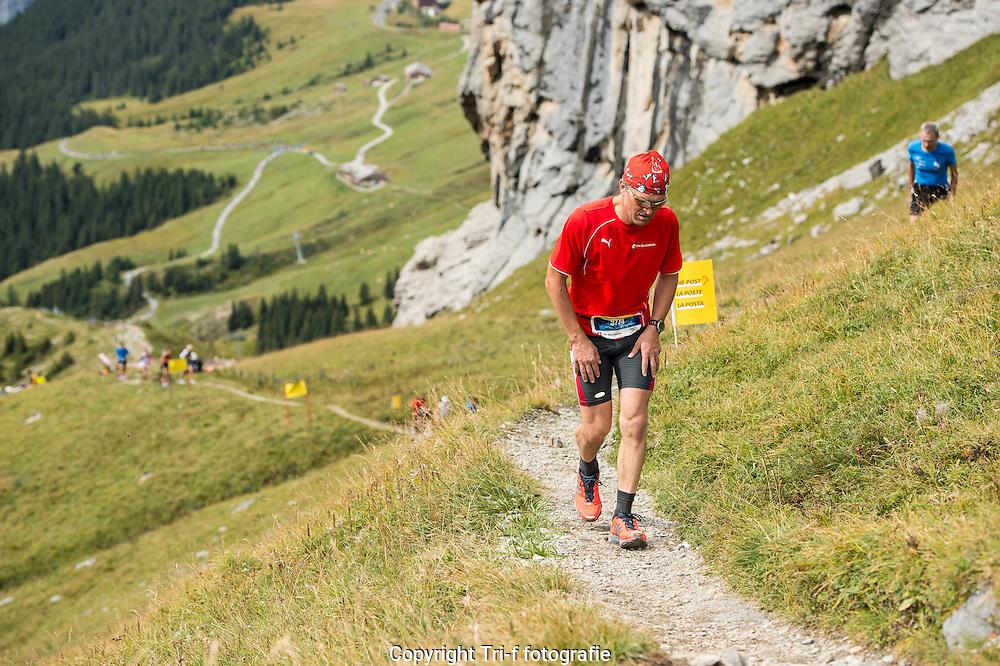 Laufer am 21. Jungfrau-Marathon