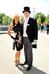 Singer Gabriella Irimia and NICHOLAS ZAPOLSKI at at the first day of the 2009 Royal Ascot racing festival on 16th June 2009.