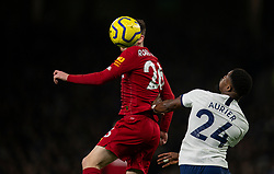 LONDON, ENGLAND - Saturday, January 11, 2020: Liverpool's Andy Robertson (L) and Tottenham Hotspur's Serge Aurier during the FA Premier League match between Tottenham Hotspur FC and Liverpool FC at the Tottenham Hotspur Stadium. (Pic by David Rawcliffe/Propaganda)