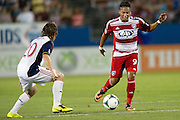 FRISCO, TX - JULY 13:  Ramon Nunez #9 of FC Dallas brings the ball up field against Real Salt Lake on July 13, 2013 at FC Dallas Stadium in Frisco, Texas.  (Photo by Cooper Neill/Getty Images) *** Local Caption *** Ramon Nunez