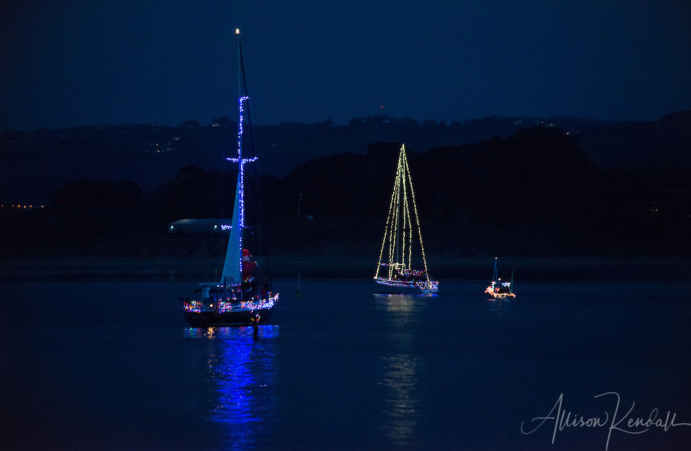 Scenes from the 2014 Monterey Lighted Boat Parade, celebrating the holiday season on the waters of Monterey Harbor