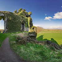 Ballycarbery Castle Ruin near Cahersiveen County Kerry province munster southwest ireland / ch043_3