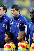 Andre-Pierre Gignac lines up before the 2010 World Cup Soccer match between South Africa and France played at the Freestate Stadium in Bloemfontein South Africa on 22 June 2010.