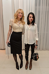 Left to right, COURTNEY LOVE and her daughter FRANCES BEAN COBAIN at the Liberatum 'Women In Creativity' Series: In Conversation With Courtney Love held at St.Martins, 45 St.Martin's Lane, London on 21st March 2016.