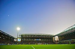 BLACKBURN, ENGLAND - Saturday, December 6, 2008: A general view of Blackburn Rovers Ewood Park under floodlights during a Premiership match against Liverpool. (Photo by David Rawcliffe/Propaganda)