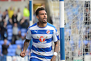 Reading midfielder Daniel Williams celebrates scoring first goal during the Sky Bet Championship match between Reading and Middlesbrough at the Madejski Stadium, Reading, England on 3 October 2015. Photo by Alan Franklin.