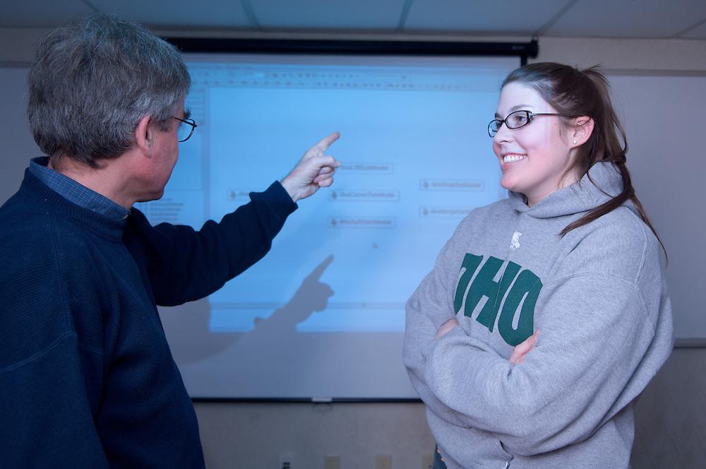 08-18577..College of Engineering Classroom shots..Dusan Sormaz  & Samantha Hedges