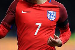 Adam Lallana wears the new red England away jersey - Mandatory by-line: Matt McNulty/JMP - 26/03/2016 - FOOTBALL - Olympiastadion - Berlin, Germany - Germany v England - International Friendly