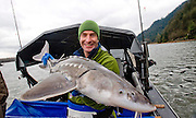 .Photographs by Alan Peebles.. Extreme fishing with Robson Green