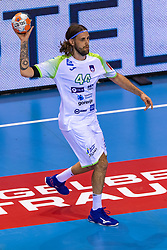 11-04-2019 NED: Netherlands - Slovenia, Almere<br /> Third match 2020 men European Championship Qualifiers in Topsportcentrum in Almere. Slovenia win 26-27 / Dean Bombac #44 of Slovenia