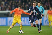 Fotball<br /> 02.04.2013<br /> Foto: Panoramic/Digitalsport<br /> NORWAY ONLY<br /> <br /> Lionel Messi - Barcelona<br /> David Beckham - PSG<br /> <br /> Fussball Champions League, Halbfinale Hinspiel, Paris SG / PSG v Barcelona