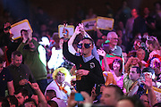 Dart fans during the 2016 Singha Beer Grand Slam of Darts at Wolverhampton Civic Hall, Wolverhampton, United Kingdom on 13 November 2016. Photo by Shane Healey.