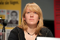 08 JAN 2011, BERLIN/GERMANY:<br /> Claudia Spatz, Antifa Berlin, Podiumsdiskussion, 16. Internationale Rosa-Luxenburg-Konferenz, Urania Haus<br /> IMAGE: 20110108-01-056