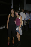 YASMIN AND LAUREN MILLS, Westfield launch at the BFC tent prior toLondon Fashion week. 17 September 2006. ONE TIME USE ONLY - DO NOT ARCHIVE  © Copyright Photograph by Dafydd Jones 66 Stockwell Park Rd. London SW9 0DA Tel 020 7733 0108 www.dafjones.com
