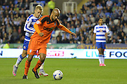 Ipswich Town striker David McGoldrick on the attack during the Sky Bet Championship match between Reading and Ipswich Town at the Madejski Stadium, Reading, England on 11 September 2015. Photo by Mark Davies.