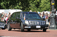 President Obama arrives at Buckingham Palace, London, UK, 24 May 2011:  Contact: Rich@Piqtured.com +44(0)7941 079620 (Picture by piQtured)