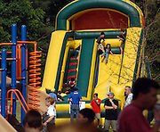 Fun and festivities attract a large crowd to the annual Sagamore Hills Advanced Reader Carnival on Saturday May 1, 2010 in Atlanta. Inflatable rides, hair painting, arts & crafts, skill games and a local DJ add to the festive atmosphere for students and their parents.   (David Tulis/dtulis@gmail.com)
