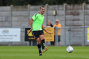 Forest Green Rovers Haydn Hollis(32) passes the ball forward during the Pre-Season Friendly match between Weston Super Mare and Forest Green Rovers at the Woodspring Stadium, Weston Super Mare, United Kingdom on 13 July 2018. Picture by Shane Healey.