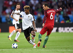 David Alaba of Austria is fouled by Ricardo Carvalho of Portugal  - Mandatory by-line: Joe Meredith/JMP - 18/06/2016 - FOOTBALL - Parc des Princes - Paris, France - Portugal v Austria - UEFA European Championship Group F