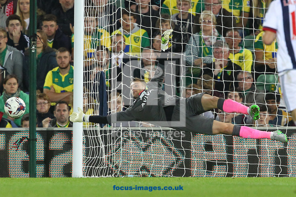 Declan Rudd of Norwich in action during the Capital One Cup match at Carrow Road, Norwich<br /> Picture by Paul Chesterton/Focus Images Ltd +44 7904 640267<br /> 23/09/2015