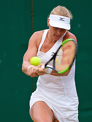 LONDON, ENGLAND - Monday, July 9, 2018: Kiki Bertens (NED) during the Ladies' Singles 4th Round match on day seven of the Wimbledon Lawn Tennis Championships at the All England Lawn Tennis and Croquet Club. (Pic by Kirsten Holst/Propaganda)