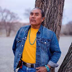 "Duane ""Chili"" Yazzie is the president of the Shiprock Chapter of the Navajo Nation and opposed the sale of the Navajo Mine."