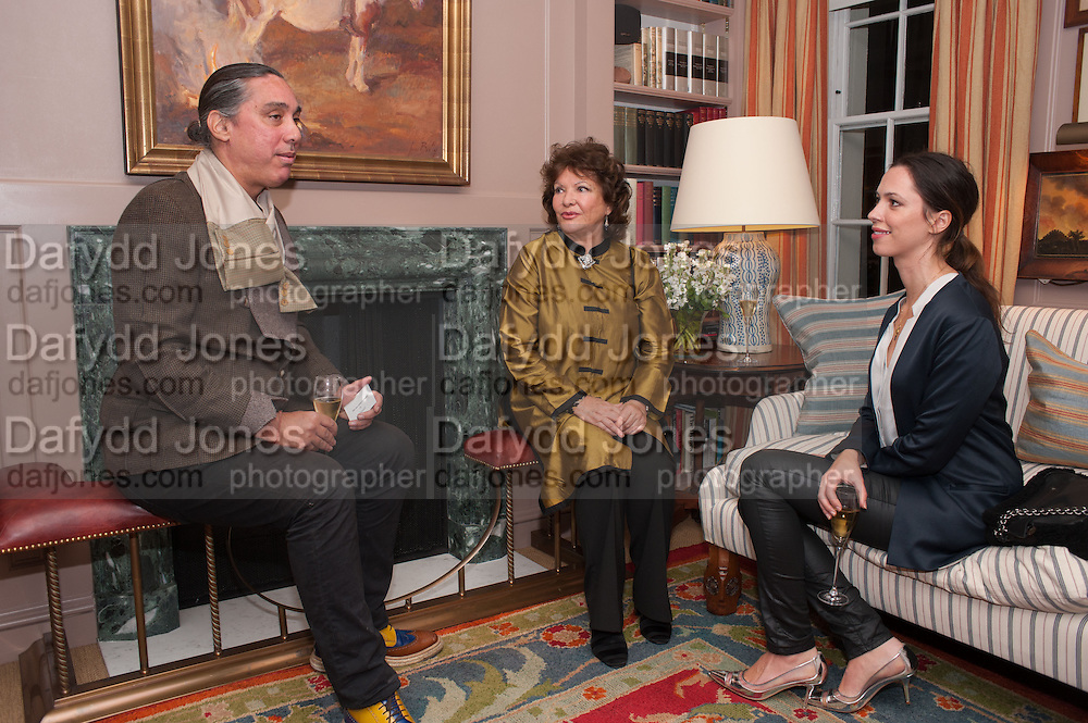 AMIR HOSSEINPOUR; LADY ASHCOMBE; REBECCA HALL, Dinner to celebrate the opening of Pace London at  members club 6 Burlington Gdns. The dinner followed the Private View of the exhibition Rothko/Sugimoto: Dark Paintings and Seascapes.
