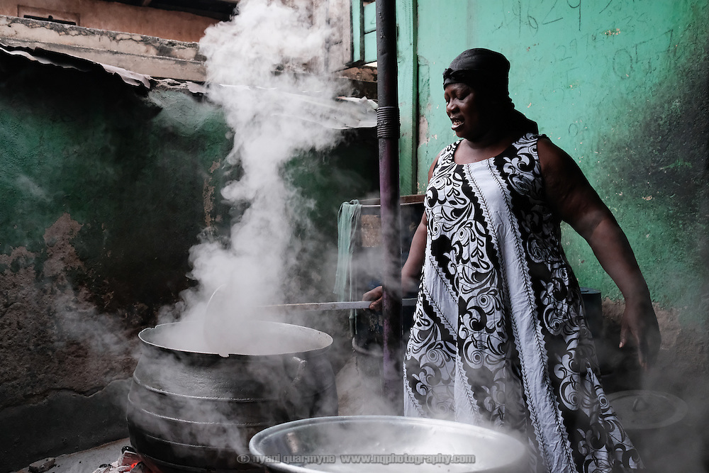 The owner of a popular &quot;chop bar&quot; in Kumasi, Ghana that specialises in a variety of soups containing antelope and grasscutter (greater cane rat), as well as fish and the meat of domesticated animals. (To &quot;chop&quot; is to eat in Ghanaian pidgin.) Bushmeat is considered a delicacy by some Ghanaians, and some of her customers said that they travel across town to eat at her restaurant. In addition, similar to the way that some people prefer to eat organic food, there is a perception that bushmeat is healthier because it is seen to be fresh and natural and free from additives.<br /> <br /> Bushmeat is acknowledged to be an important protein source, and there is research indicating that rising fish prices correlate with increased consumption of bushmeat. This places pressure on wildlife populations. In Ghana alone, the bushmeat trade is estimated to be worth &pound;105 million annually.