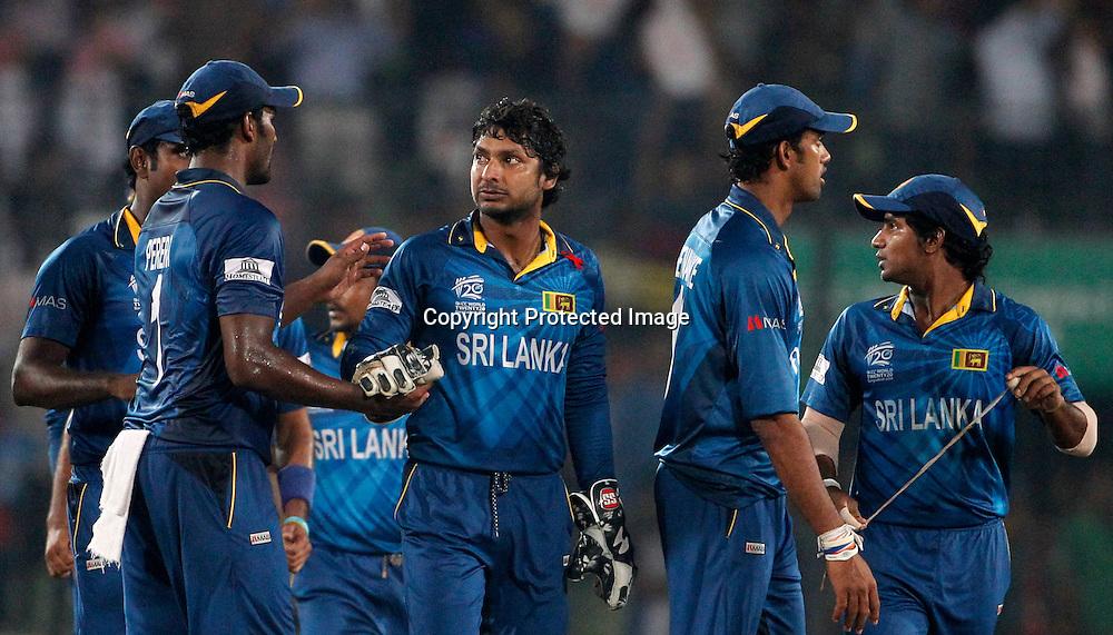 Virat Kohli is dismissed, ICC T20 cricket World Cup Final - Sri Lanka v India, Sher-e-Bangla National Cricket Stadium, Mirpur, Bangladesh, 6 April 2014. Photo: www.photosport.co.nz
